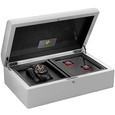 Scuderia Orologi Line White Black Rubber For limited edition paddock chronograph now available