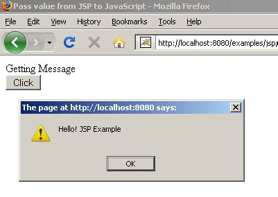javascript tutorial roseindia pass value from jsp to javascript