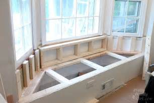 window bench seat plans building a window seat with storage in a bay window