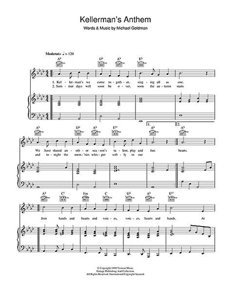 dirty dancing kellerman s kellerman s anthem from dirty dancing sheet music by the