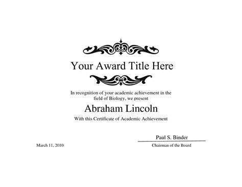 free blank certificate template search results for award certificate template printable