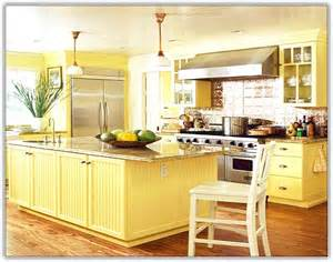 Light Yellow Kitchen Cabinets Yellow Kitchen Cabinets Home Design Ideas
