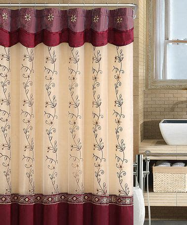 burgundy and gold shower curtain victoria classics burgundy gold daphne shower curtain