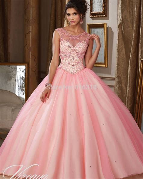 Dress Baby 02 Bunga Pink 2016 cheap quinceanera gowns debutante sweet 16 princess dresses beading light baby blue pink