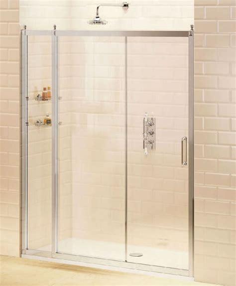 Recess Shower Door Burlington Recessed Sliding Shower Door With Inline