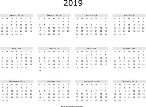 Yearly Calendar 2019 2019 Yearly Calendar 1 Txshjz Printable Calendar Monthly 2019 Calendar Template Word