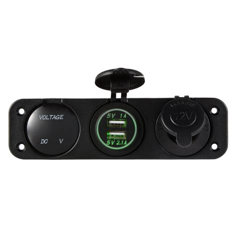 boat battery charger mount dual usb port charger 12v socket panel mount car marine
