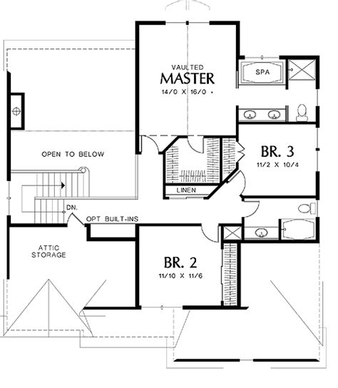 monmouth 4738 3 bedrooms and 2 baths the house designers