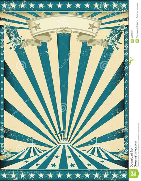 circus grunge blue poster stock vector image 55739197