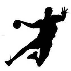 Handball player silhouette adobe brushes 123freebrushes