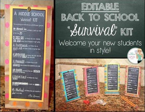 vet school survival guide notes from a back row student books editable back to school survival kit tag and tutorial