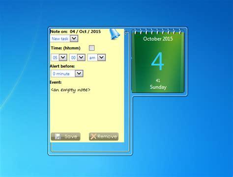 Calendar Desktop Widget Zcalendar Windows 7 Desktop Gadget