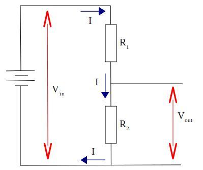 current through resistor voltage divider voltage divider circuit electrostudy