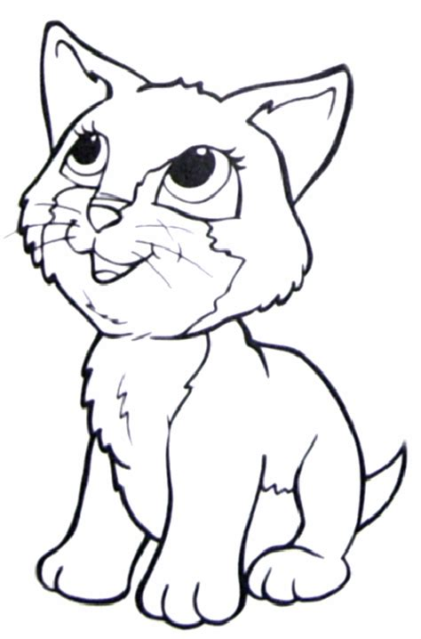 picture of a cat coloring page coloring picture of a cat