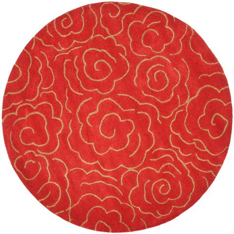 Safavieh Soho Red 8 Ft X 8 Ft Round Area Rug Soh812a 8r 8 Ft Rug