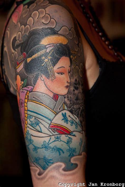 copenhagen tattoo copenhagen inkfestival 2012 japanese geisha portrait
