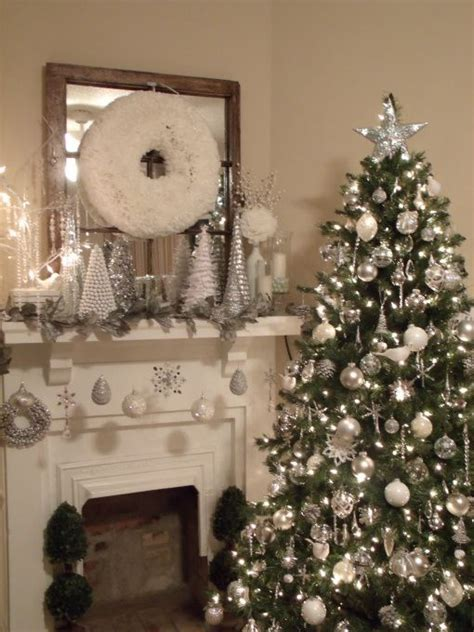 silver and white christmas ikea decora