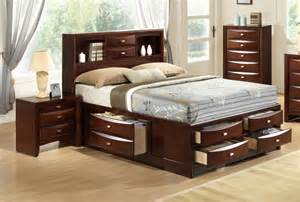 Log Platform Bed With Storage Exquisite Wood Elite Platform Bed With Storage