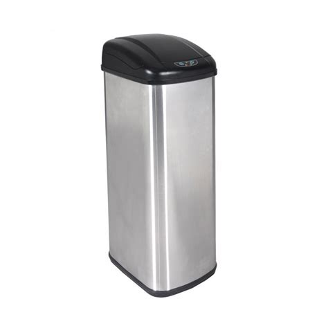 Kitchen Trash Can 13 Gallon by New 13 Gallon Touch Free Sensor Automatic Stainless Steel