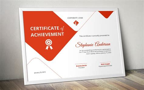 creative certificate template docx stationery