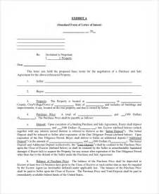 Letter Of Intent To Purchase Property Template by Sle Letter Of Intent To Purchase Property 8 Free