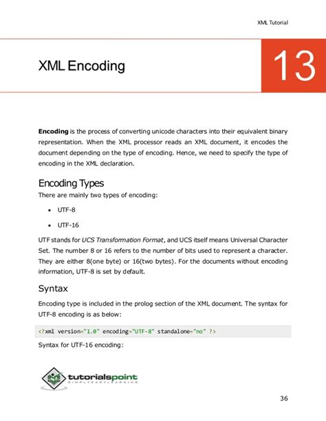 tutorial de xml en pdf xml tutorial