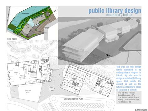 Digital Floor Plan by Design Thesis Public Library B Arch May 2011 On Behance