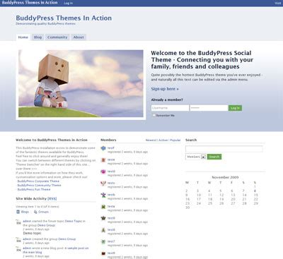 buddypress themes like facebook buddypress social theme wpmu dev