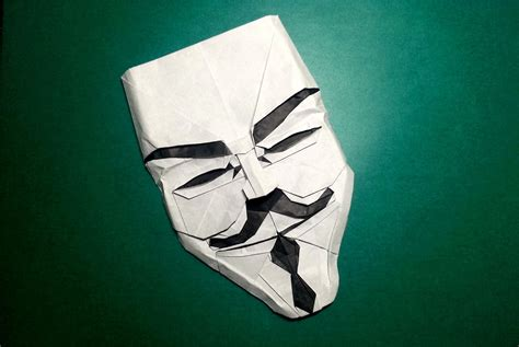 Fawkes Mask Origami - i can hardly mask my excitement about this origami