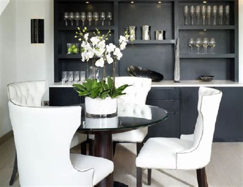 black and white dining room chairs black becca nailhead dining chair design ideas