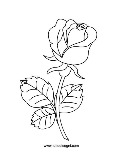 disegno di rosa fiore rosa da colorare tuttodisegni