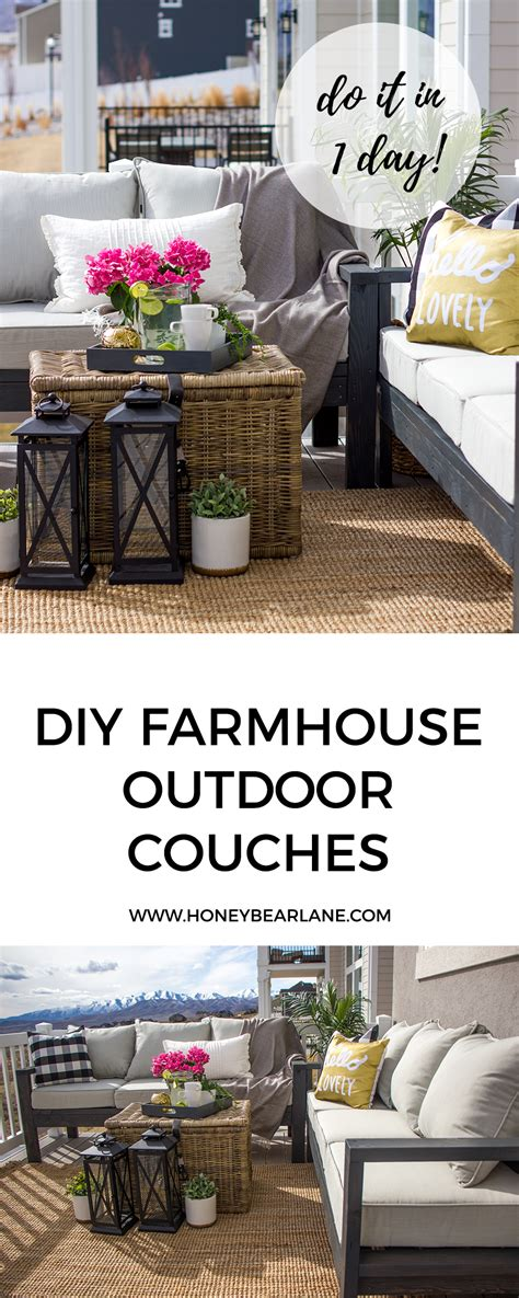 build a farmhouse diy outdoor furniture honeybear lane