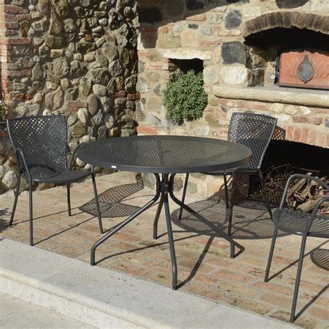 tavolo in ferro da esterno tavoli da giardino in ferro battuto e pietra mobilia la