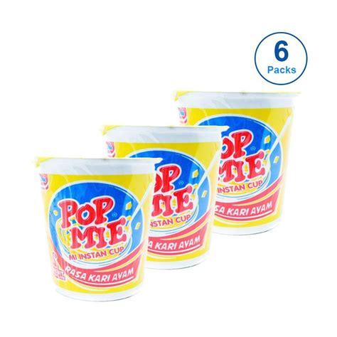 pop mie 75gr 1pcs jual rekomendasi seller pop mie cup rasa kari ayam jumbo