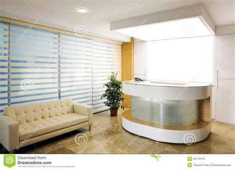 Hall Room Interior Design - company reception area stock image image of business 26170413