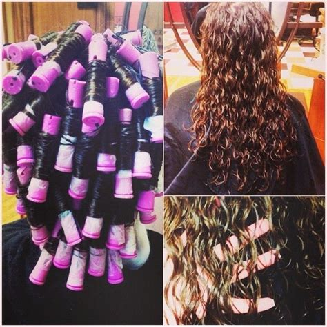 spiral perm diy perm purple rod with results google search hair