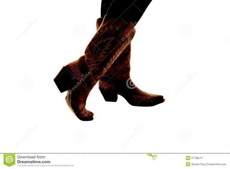 Country Boots Semi Boot semi silhouette of cowboy boots on a white background