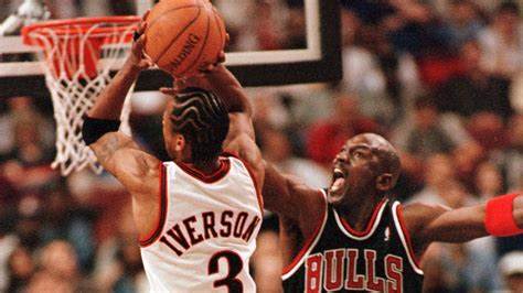 allan iverson vs michael jordan 4k wallpaper free 4k