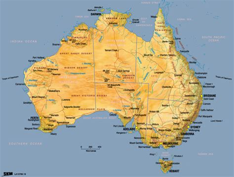 map of countries in australia continent of australia map