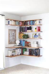 diy corner bookcase diy wall shelf ideas modern magazin