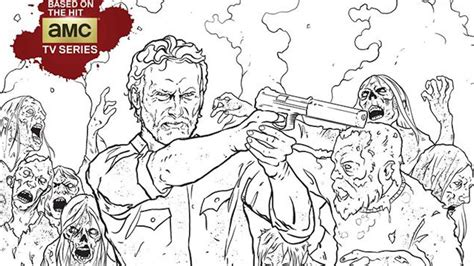 Color in your favorite corpses with 'The Walking Dead