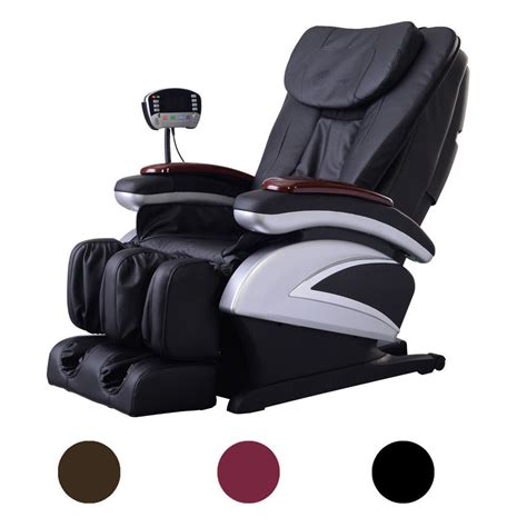 recliner massage chair electric full body shiatsu massage chair recliner w heat