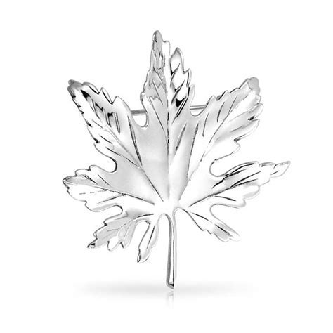 925 Silver Kate Middleton Canada Day Maple Leaf Pin Brooch
