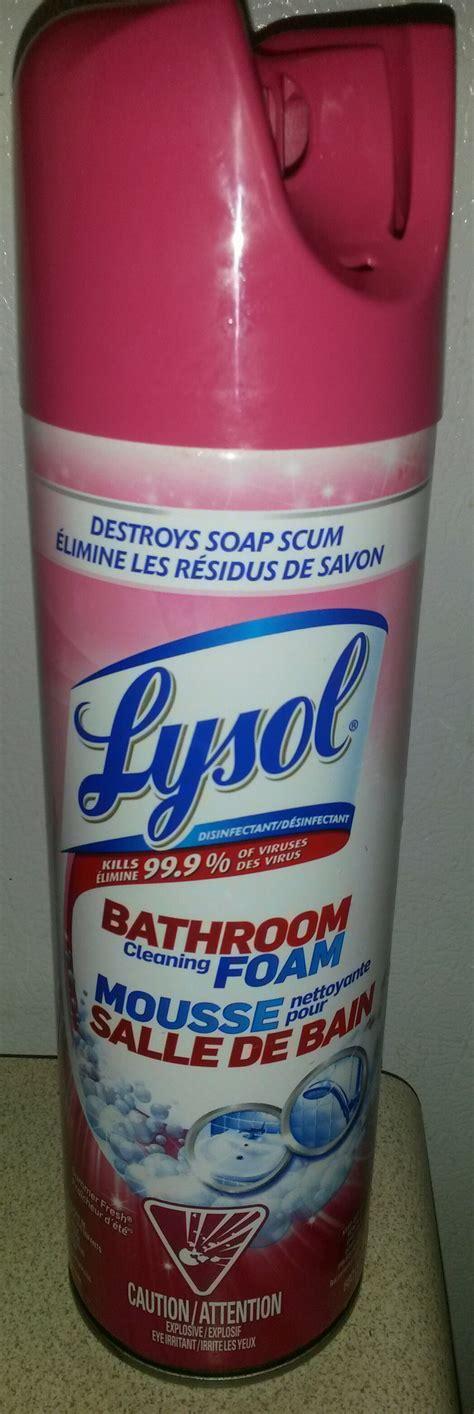 lysol foaming bathroom cleaner msds lysol foaming bathroom cleaner 28 images lysol power
