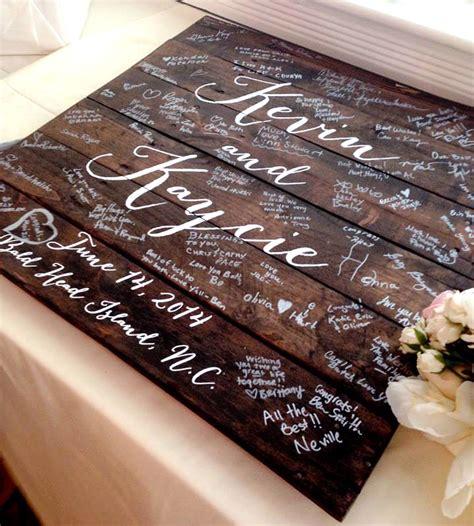 Handmade Guest Book Ideas - custom wedding guestbook wood sign wedding ceremony