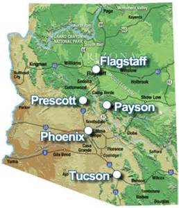 arizona elevation map conroy and the the climate part 2