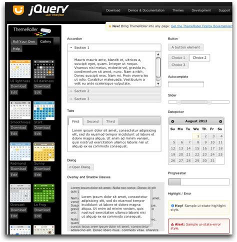 jquery ui layout and data tables jquery ui table style css