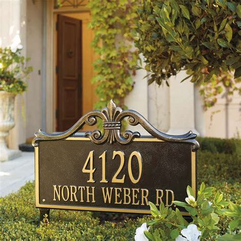 Address Plaques For Front Yard - why you should go for lawn address signs homesfeed