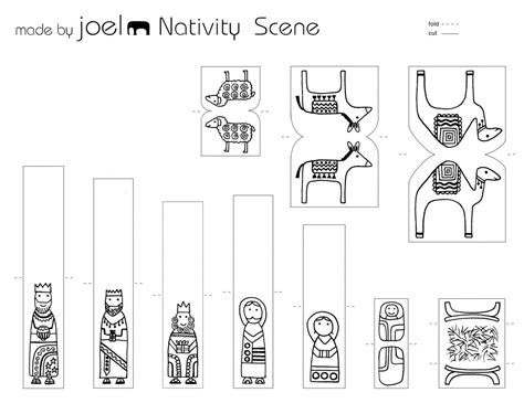 nativity templates search results for colouring cut nativity
