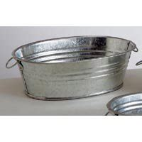 Small Metal Tubs package of 12 small galvanized metal oval wash tubs with vintage look